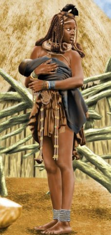 Franck25 - Himba girl with baby