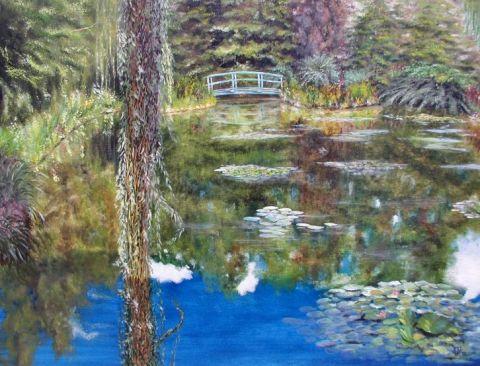 Giverny les jardins de claude monet peinture rddl - Les jardins de monet ...