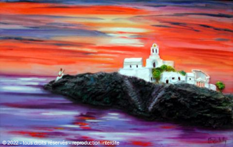 L'artiste Catherine Dutailly - Siphnos les Cyclades