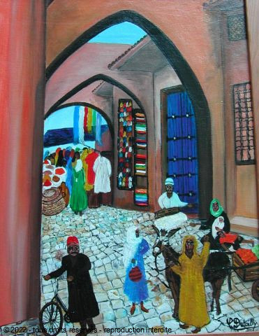 Catherine Dutailly - Une rue marocaine