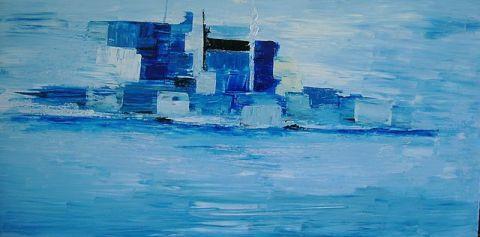 L 39 artiste iloa bleu imaginaire - Camaieu de bleu peinture ...