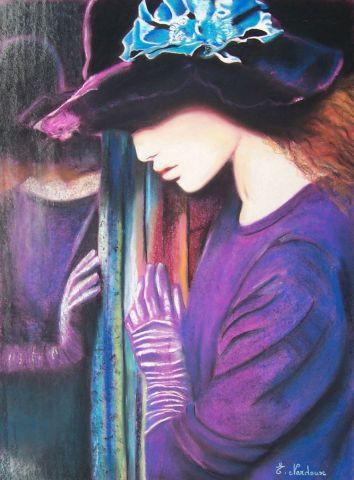 Jeune fille au miroir dessin elisabeth nardoux for Fille au miroir