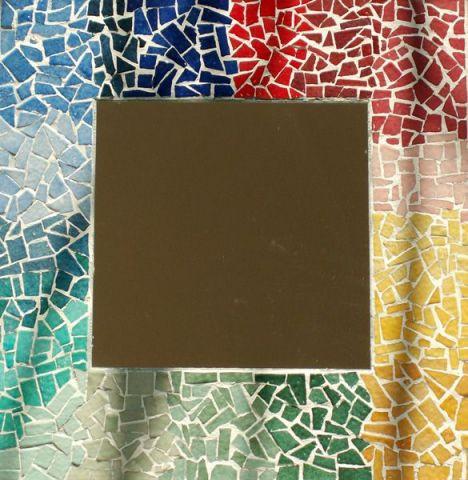 Miroir arc en ciel mosaique alexandre - Mosaique de miroir casse ...