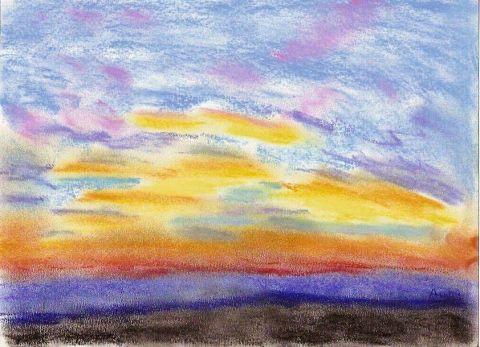 Coucher de soleil dessin paradisianna - Dessin coucher de soleil ...