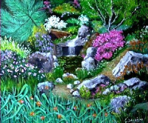 Jardin extraordinaire 1 peinture darrieux for Jardin extraordinaire