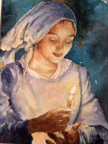 Porteuse de lumiere peinture agathe bonnet for Agathe bonnet