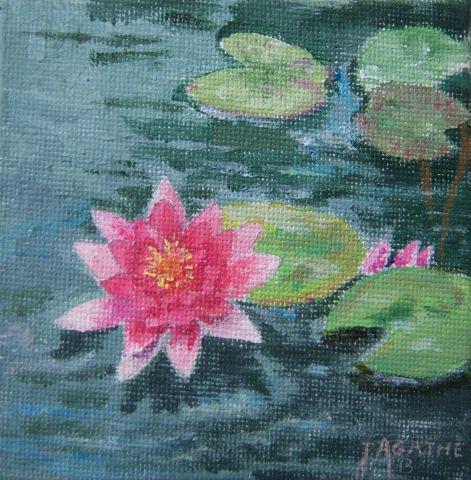 Lotus peinture agathe bonnet for Agathe bonnet