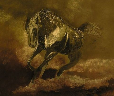 muriel caron - cheval emballe
