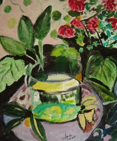 La plante verte peinture amira for La plante verte