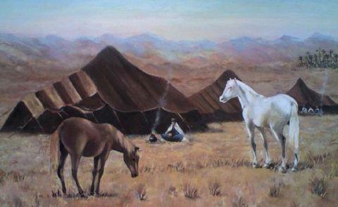 Halte beni abbes alg rie peinture abdelkrim hamri for Peinture satinee algerie prix