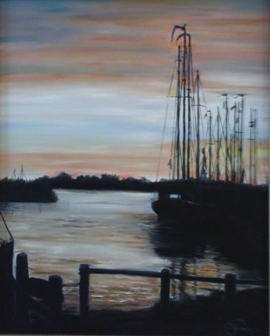 Maaike Poog - Sunset over the harbour