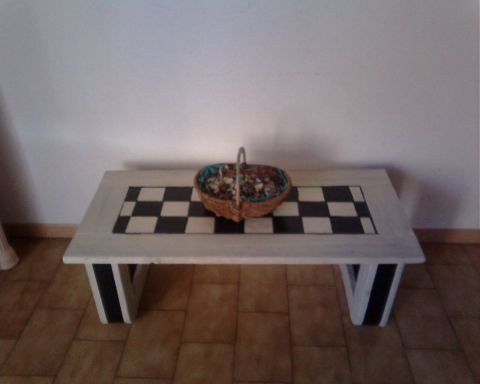 skymel -  table basse style damier