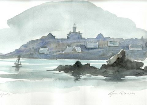 olivier lecourtois - Chausey  Sous le phare