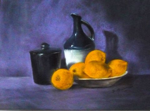 Suzanne ACCARIES - Nature morte aux citrons