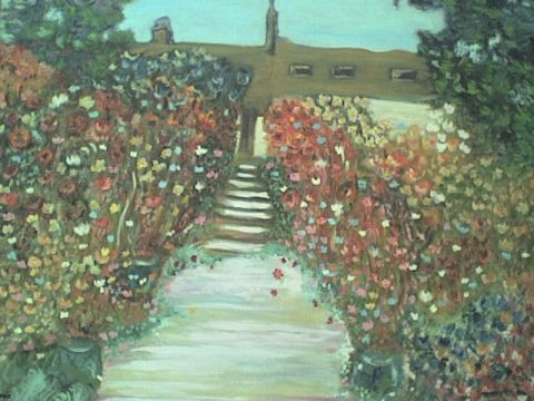 Pepe Luis Saavedra  - The Artist's Garden at V�theuil [Claude monet]  (copie)