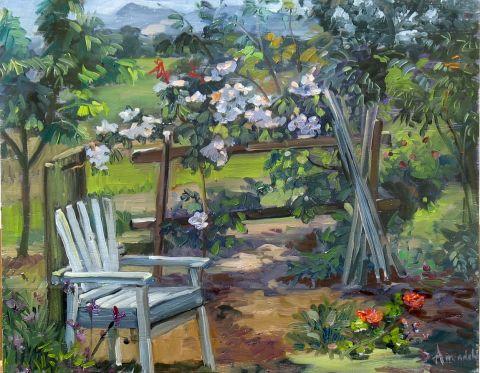 Mon coin de jardin peinture dominique amendola for Carte virtuelle mon coin de jardin