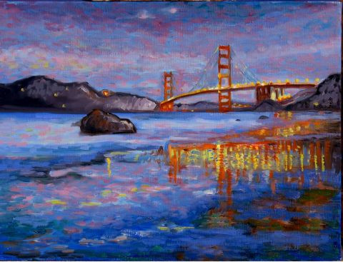 Dominique  Amendola  - Golden gate bridge la nuit