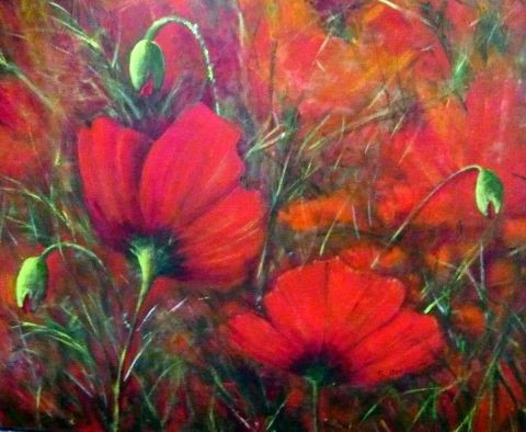 Suzanne ACCARIES - Grands coquelicots