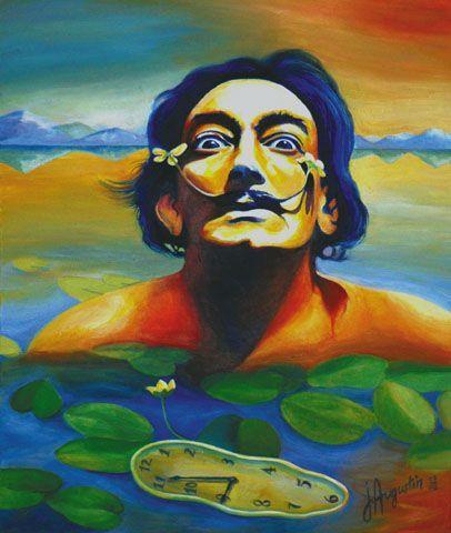 Dali,Salvador,portrait,Dali et les nénuphars - Peinture ...