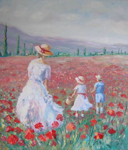 Andre Rosiere - Balade dans les coquelicots