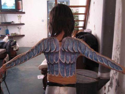 Ailes d 39 ange peinture alexandra galvez for Tableau aile d ange