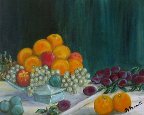 Brigitte PERRAULT - composition fruits d'automne