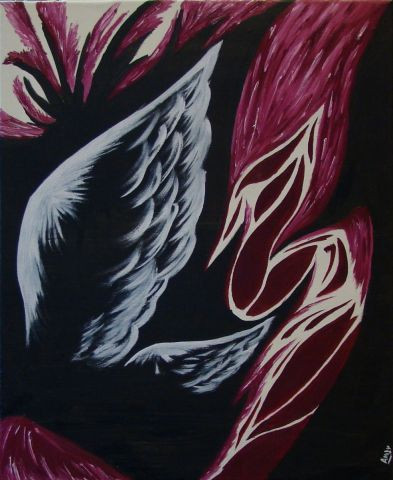 aile d'ange - Peinture - Anjy