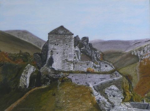 Bruno Chamberlin - Ruines vieux chateau dans le Cantal