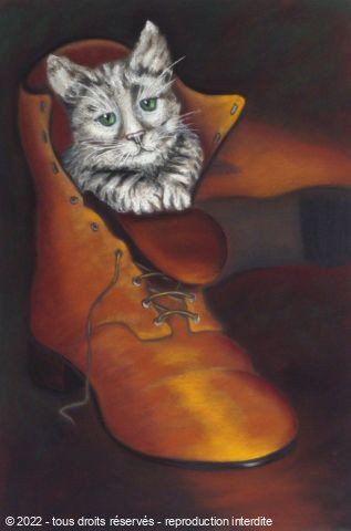 L'artiste BETTY-M peintre - chat botté