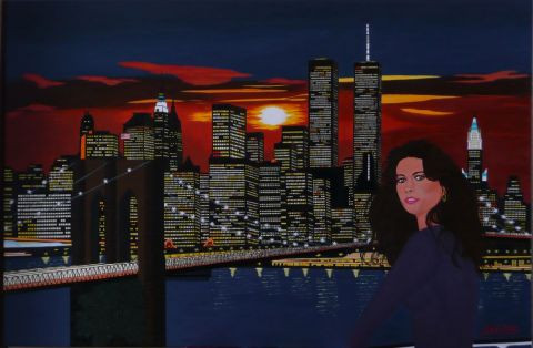 chez denis - Catherine Zeta-Jones au large de Manhattan au coucher de soleil