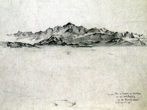 drawing E M - Mont Blanc