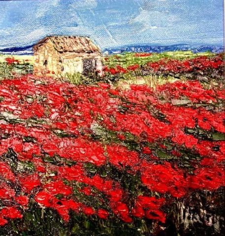 MARIE-THERESE VION - Les coquelicots