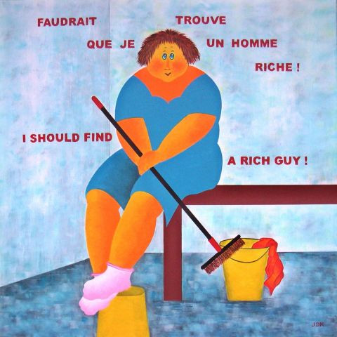 L'artiste Jideka - Faudrait que je trouve un homme riche ! - I should find a rich guy !