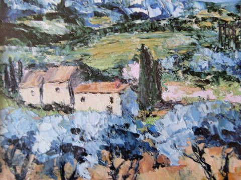 MARIE-THERESE VION - paysage de provence