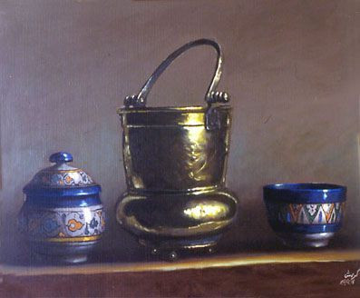 krich med - nature morte aux bronze