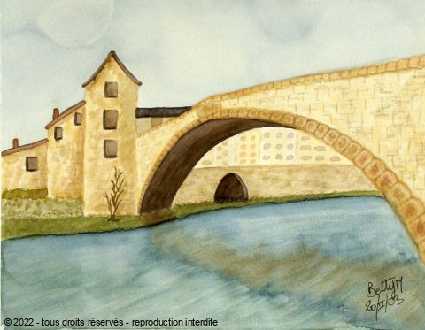 L'artiste BETTY-M peintre - pont de montvert