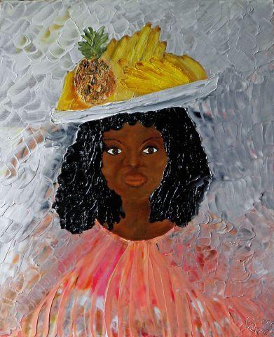 Peinture femme noire peinture au couteau peinture for Peinture chambre femme